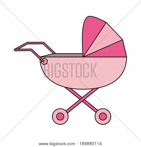 baby carriage illustration icon vector design graphic