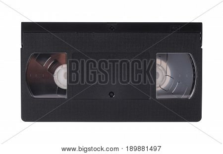 Old obsolete video cassette vhs on a white background. Isolated