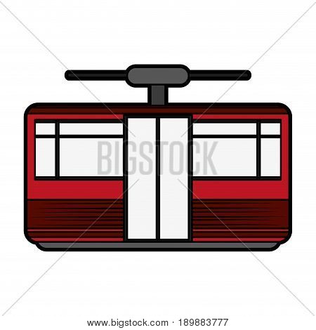 funicular or cable car icon image vector illustration design