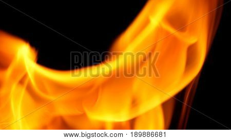 Fire Close-up For Use As Abstract Background