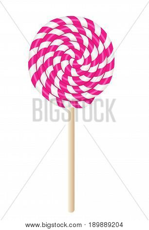 Pretty pink treat on a stick, sweet candy