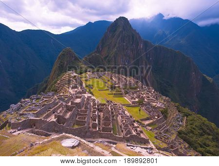 The Fortress Of Machu Picchu. The ancient settlement of the Incas. Peru. South America.