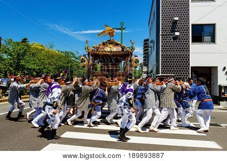 Parade Portable Shrines In Odawara Town