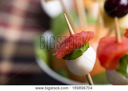 Tomato Mozzarella Skewer