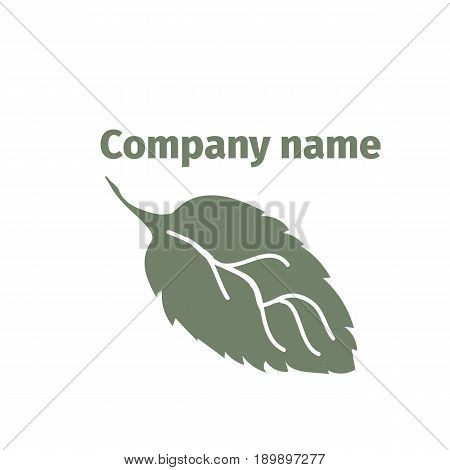 Mint. Logo for company. Isolated mint leaves on white background, vector