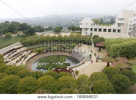 The Getty Center in Los Angeles, USA on May 2017.
