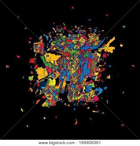 Yerevan, Armenia, Colorful Artmap