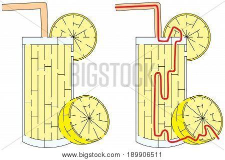 Easy Lemonade Maze