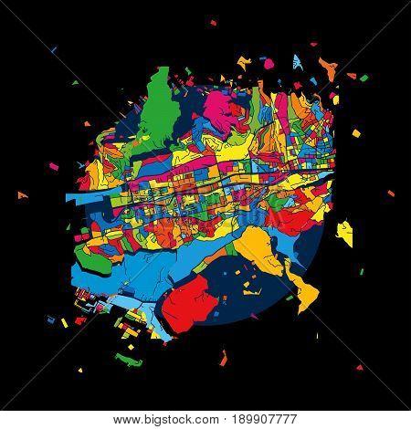Sarajevo, Bosnia And Herzegovina, Colorful Artmap