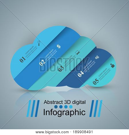 3D infographic design template and marketing icons. Wheather icon.