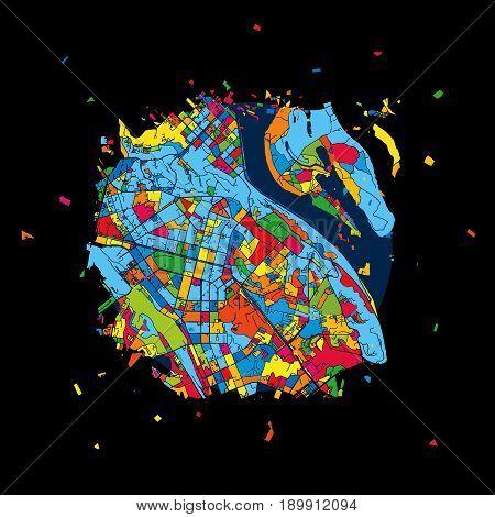 Kyiv, Ukraine, Colorful Artmap