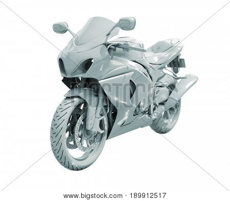 3d render: Model of Toy Bike Isolated on White Background