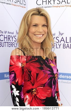 LOS ANGELES - JUN 3:  Vanna White at the 16th Annual Chrysalis Butterfly Ball at the Private Estate on June 3, 2017 in Los Angeles, CA