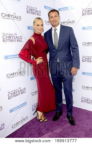 LOS ANGELES - JUN 3:  Molly Sims, Scott Stuber at the 16th Annual Chrysalis Butterfly Ball at the Private Estate on June 3, 2017 in Los Angeles, CA