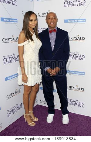 LOS ANGELES - JUN 3:  Russell Simmons, Guest at the 16th Annual Chrysalis Butterfly Ball at the Private Estate on June 3, 2017 in Los Angeles, CA