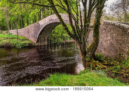 River Swale under Ivelet Bridge - The picturesque hump-backed bridge at Ivelet crosses the River Swale approximately a mile and half west of Gunnerside in Swaledale
