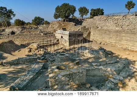 Sanctuary In Ancient City Troy. Turkey