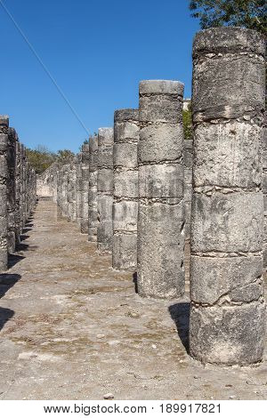Court Of A Thousand Columns  At Chichen Itza, Yucatan, Mexico