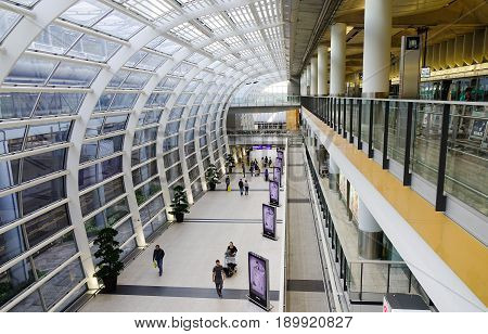 Inside Of Hong Kong International Airport