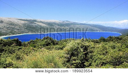 lake Vrana on the island Cres in Croatia