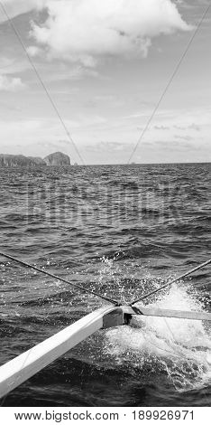 View Of The Island Hill From The Prow Of A Boat