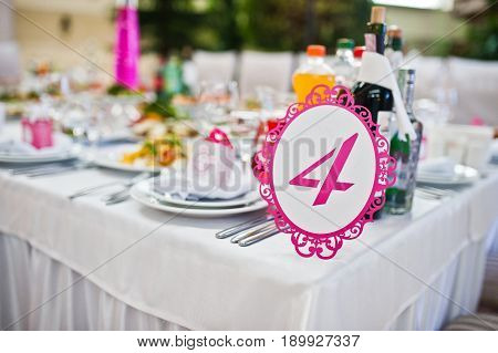 Wedding Guest Number Of Table 4 At Wedding Hall.