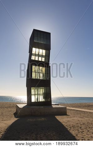 Sculture On Barceloneta Beach, Barcelona, Spain