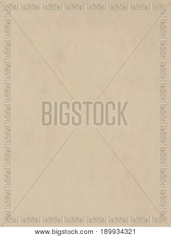 Neutral base effect cream-colored texture with frame of tiled tiles For artistic bases