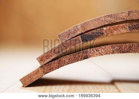 Curver merbau wood boards for handmade drum closeup