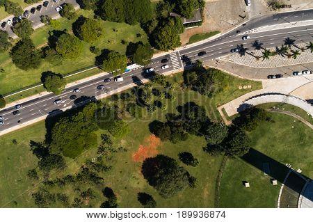 Aerial View of Ibirapuera in Sao Paulo, Brazil