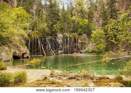 Hanging Lake near Glenwood Springs in Colorado