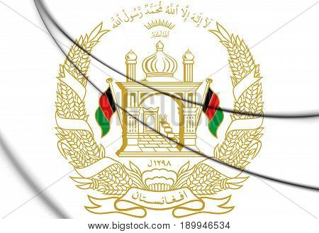 3D Emblem Of The Afghanistan.