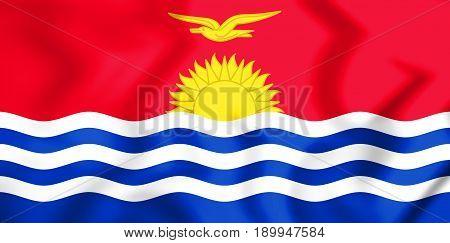 3D Flag Of The Kiribati.
