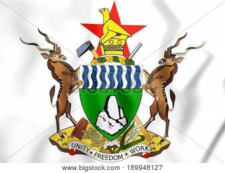 3D Zimbabwe Coat Of Arms.