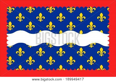 Flag of Cher is a department in the Centre-Val de Loire region of France. Vector illustration