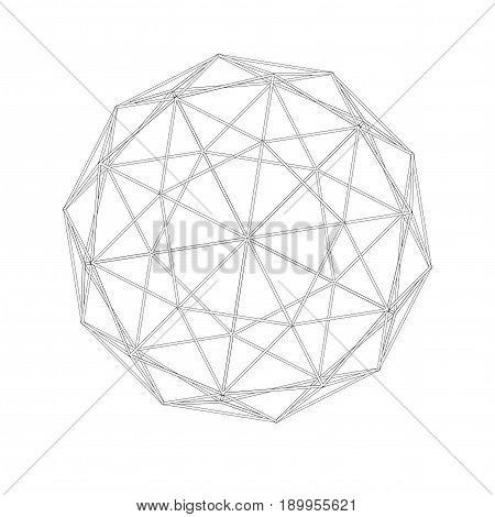 Geodesic Grid. Meshes. Sacred Geometry