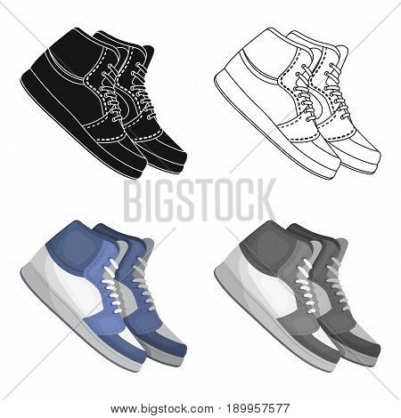 Basketball shoes.Basketball single icon in cartoon style vector symbol stock illustration .