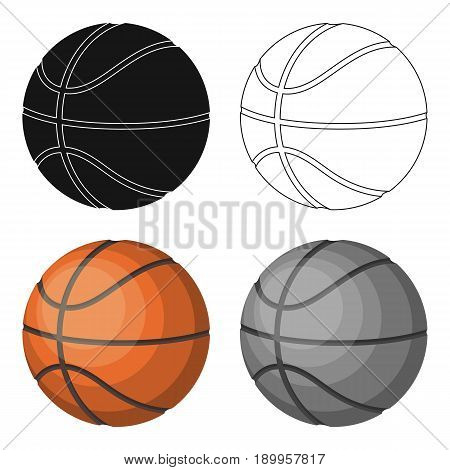 basketball.Basketball single icon in cartoon style vector symbol stock illustration .
