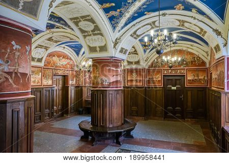 Vilnius, Lithuania - May 05, 2017: Inside The Building Of Philology Faculty, Center Of Lithuanistics