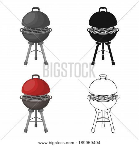 Grill for barbecue.BBQ single icon in cartoon style vector symbol stock illustration .