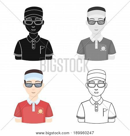 Golfer.Golf club single icon in cartoon style vector symbol stock illustration .