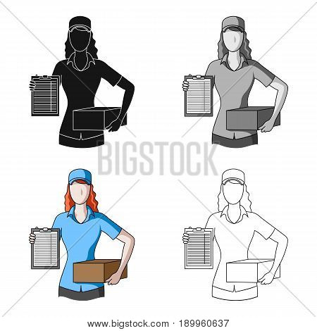 Postal courier.Mail and postman single icon in cartoon style vector symbol stock illustration .