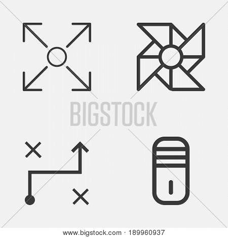 Icons Set. Collection Of Branching Program, Solution, Mainframe And Other Elements. Also Includes Symbols Such As Algorithm, Computer, Arrow.