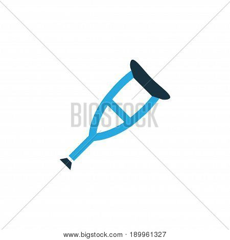 Crutch Colorful Icon Symbol. Premium Quality Isolated Spike Element In Trendy Style.