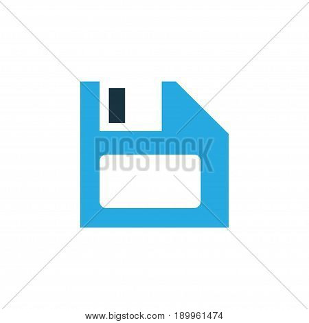 Diskette Colorful Icon Symbol. Premium Quality Isolated Floppy Disk Element In Trendy Style.