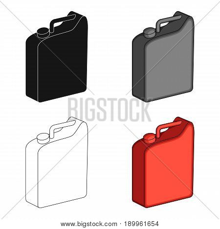 Canister for gasoline.Oil single icon in cartoon style vector symbol stock illustration .