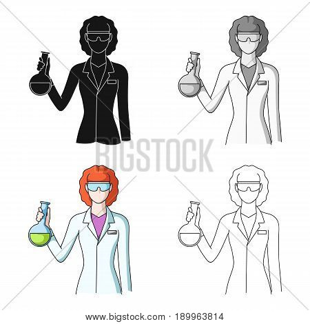 Chemist.Professions single icon in cartoon style vector symbol stock illustration .