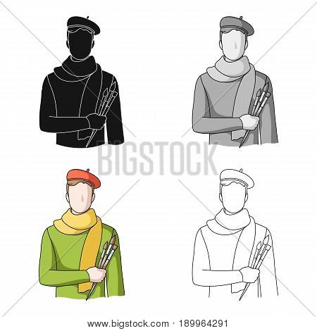 Artist.Professions single icon in cartoon style vector symbol stock illustration .