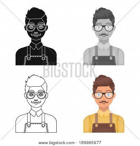 Male hairdresser..Barbershop single icon in cartoon style vector symbol stock illustration .