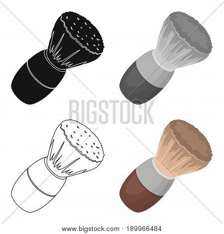 Shaving brush.Barbershop single icon in cartoon style vector symbol stock illustration .